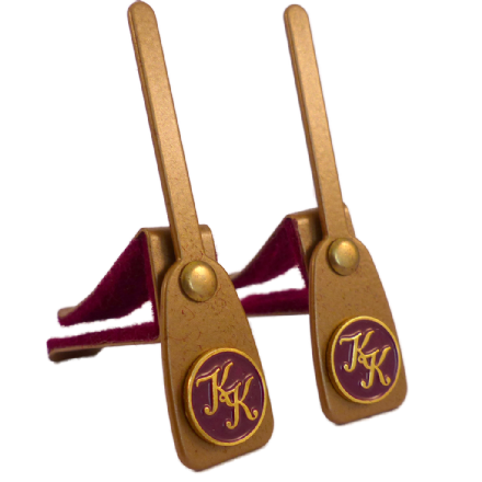 Desk hooks for upright piano, portable, gold